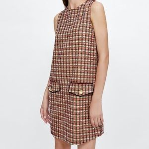 {ZARA}Multi Color Tweed Dress